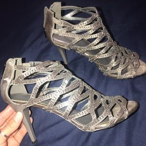 LeChateau Silver High Heels